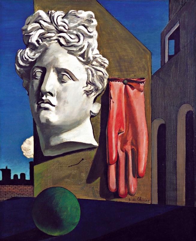 آهنگ عشق. رنگ و روغن روی بوم. 79 در 59 سانتیمتر. نقاش: جورجو دکریکو (Giorgio de Chirico).